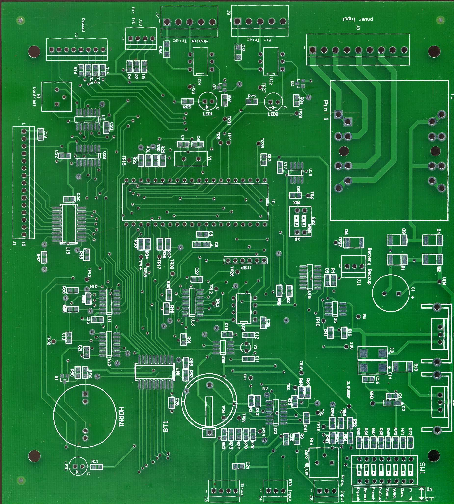 For Most Pcb Boards Are Green Andwin Circuits Printed Wiring Viewpoint 2 Common Red Yellow Blue And Black Due To The Problem Of Process Many Lines Inspection Still Rely On Workers See With
