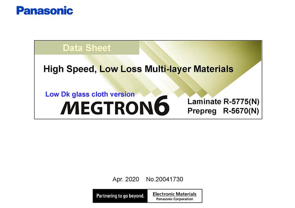megtron 6 datasheet